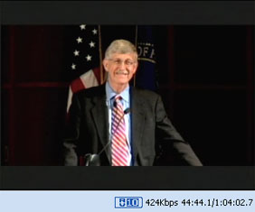 Screenshot of NIH All-Hands Town Meeting with Dr. Collins