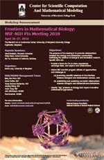 Frontiers in Mathematical Biology:<br />  NSF-NIH PIs Meeting 2010 poster