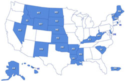 Institutional Development Award (IDeA) Map of Eligible States