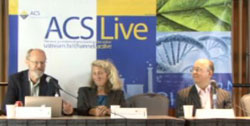 Video of a press conference with chemical scientists  whose careers were aided by our support