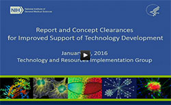 The January 2016 Advisory Council meeting presentation on the initiatives begins at 1:14:43